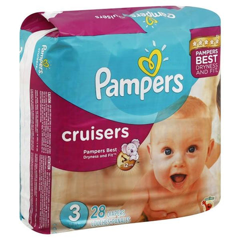 Pampers Cruisers Diapers, Size 3