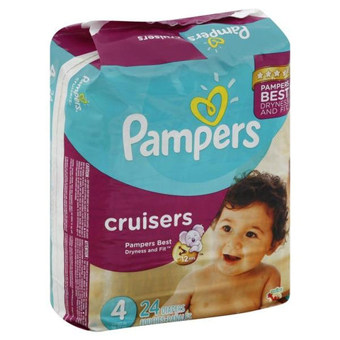 Pampers Cruisers Diapers, Size 4