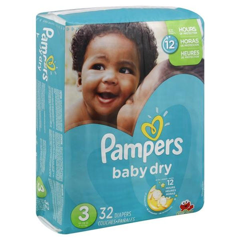 Pampers Baby Dry Diapers, Size 3