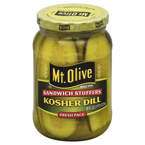 Mt Olive Kosher Dill, Sandwich Stuffers, Fresh Pack