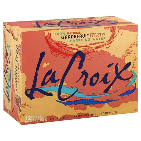 La Croix Sparkling Water, Grapefruit Flavored
