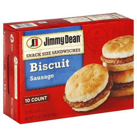 Jimmy Dean Biscuit Sandwiches, Sausage, 10 ct.