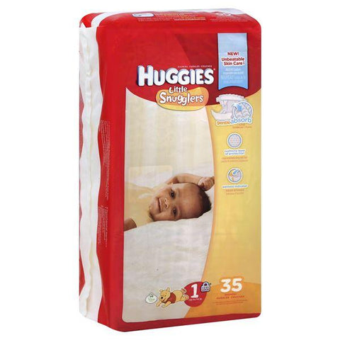 Huggies Little Snugglers Diapers, Size 1