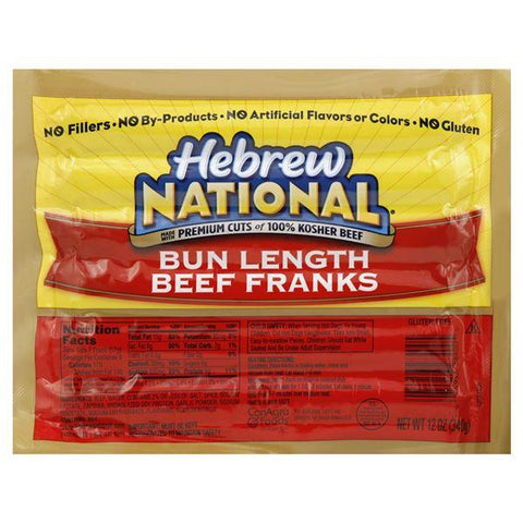Hebrew National Franks, Beef, Bun Length