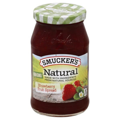 Smuckers Natural Fruit Spread, Strawberry