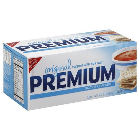 Nabisco Premium Saltine Crackers, Original, Topped with Sea Salt