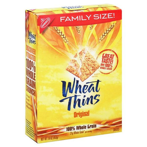 Wheat Thins Snacks, Original, Family Size!