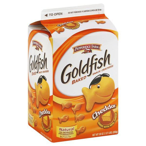 Goldfish Baked Snack Crackers, Cheddar, Large Box