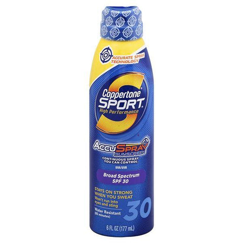 Coppertone Sport Sunscreen, AccuSpray, High Performance, Broad Spectrum SPF 30