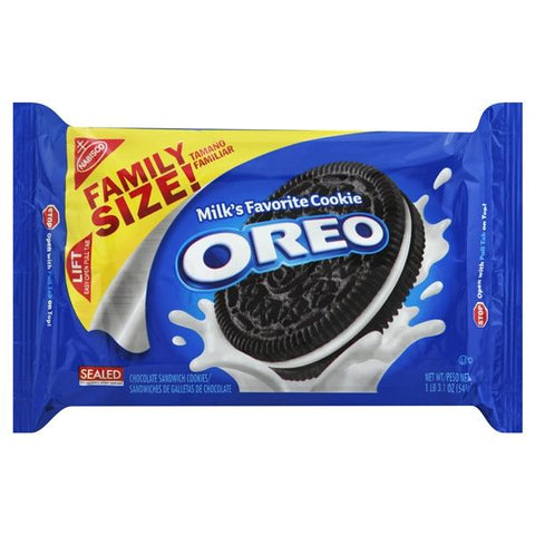 Oreo Sandwich Cookies, Chocolate, Family Size!