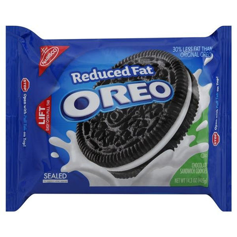 Oreo Sandwich Cookies, Chocolate, Reduced Fat