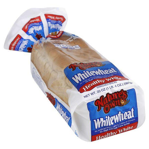 Natures Own Whitewheat Bread, Enriched, Healthy White