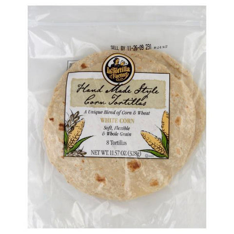 La Tortilla Tortillas, White Corn, 8ct