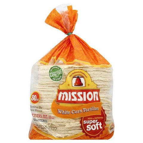 Mission Tortillas, White Corn