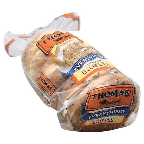 Thomas Bagels, Pre-Sliced, Everything
