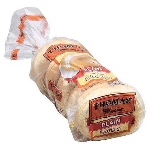 Thomas Bagels, Pre-Sliced, Plain