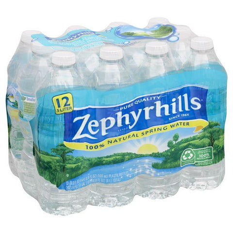 Zephyrhills Water, 100% Natural Spring, 24k