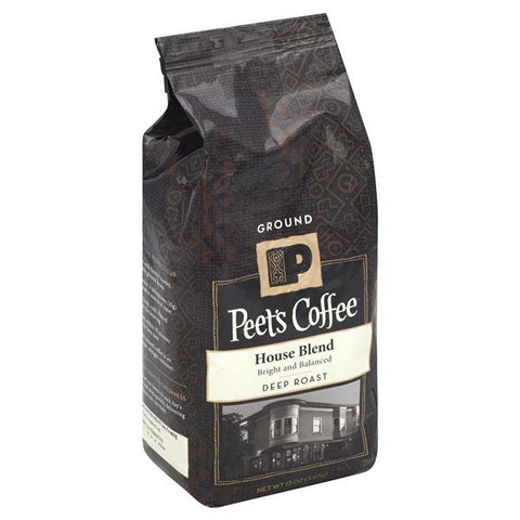 Peets Coffee Coffee, Ground, Deep Roast, House Blend