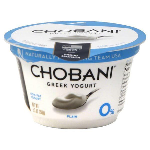 Chobani Yogurt, Greek 0%, Non-Fat, Plain, small