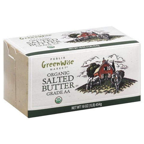 Publix Greenwise Butter, Organic, Salted, 4 ct