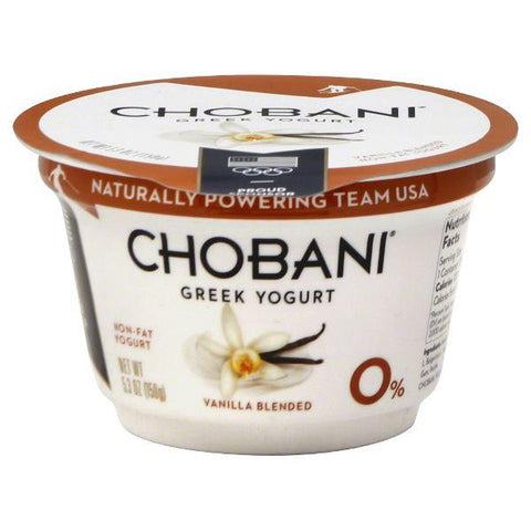 Chobani Yogurt, Greek, Non-Fat, Vanilla Blended, small
