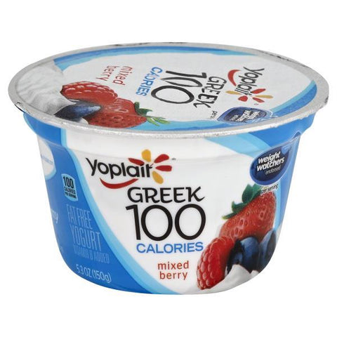 Yoplait Greek 100 Calories Yogurt, Greek, Fat Free, Mixed Berry