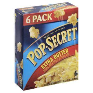 Pop Secret Popcorn, Extra Butter, 6pk