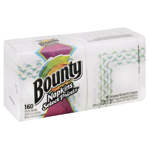 Bounty Napkins, Quilted, Select Prints, 1-Ply, 160 ct