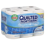Quilted Northern Ultra Soft & Strong Bathroom Tissue, Unscented, 12 ct