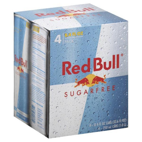 Red Bull Energy Drink, Sugar Free, 8.4oz, 4pk Cans