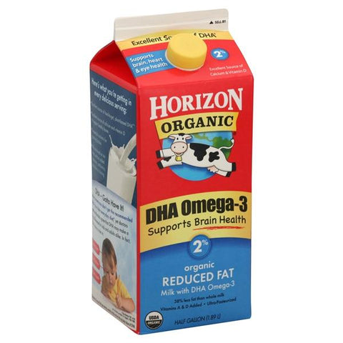 Horizon Organic Milk, Reduced Fat, DHA Omega-3, 2%
