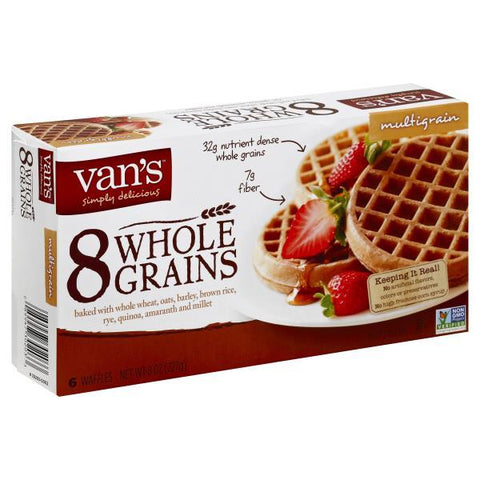 Vans Waffles, 8 Whole Grains, Multigrain