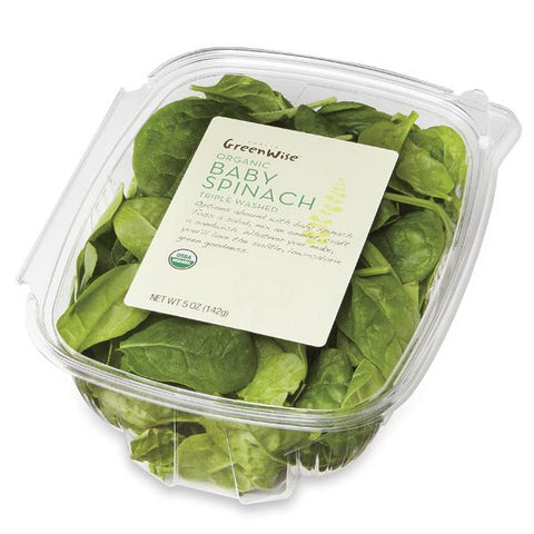 Publix Greenwise Organic Baby Spinach, Container