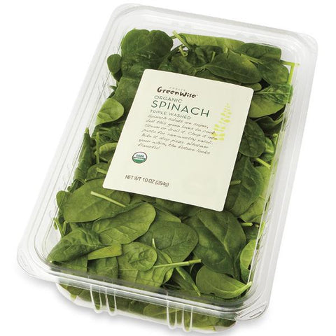 Publix Greenwise Organic Spinach, Container