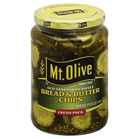 Mt Olive Bread & Butter Chips, Fresh Pack