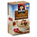 Quaker Oatmeal, Instant, Maple & Brown Sugar