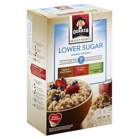 Quaker Select Starts Oatmeal, Instant, Lower Sugar, Variety