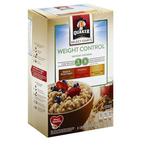 Quaker Select Starts Weight Control Oatmeal, Instant, Variety Pack