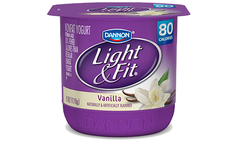Dannon Light & Fit Non Fat Yogurt, Vanilla