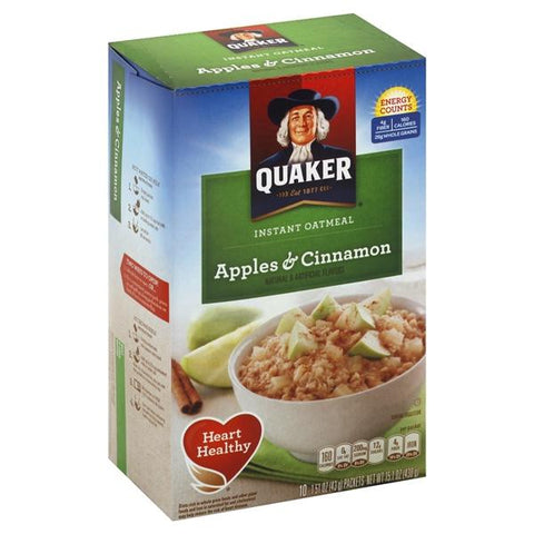 Quaker Oatmeal, Instant, Apples & Cinnamon