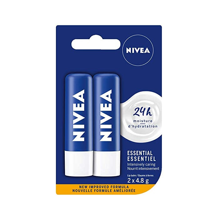 NIVEA Essential Lip Balm  2*4.8g