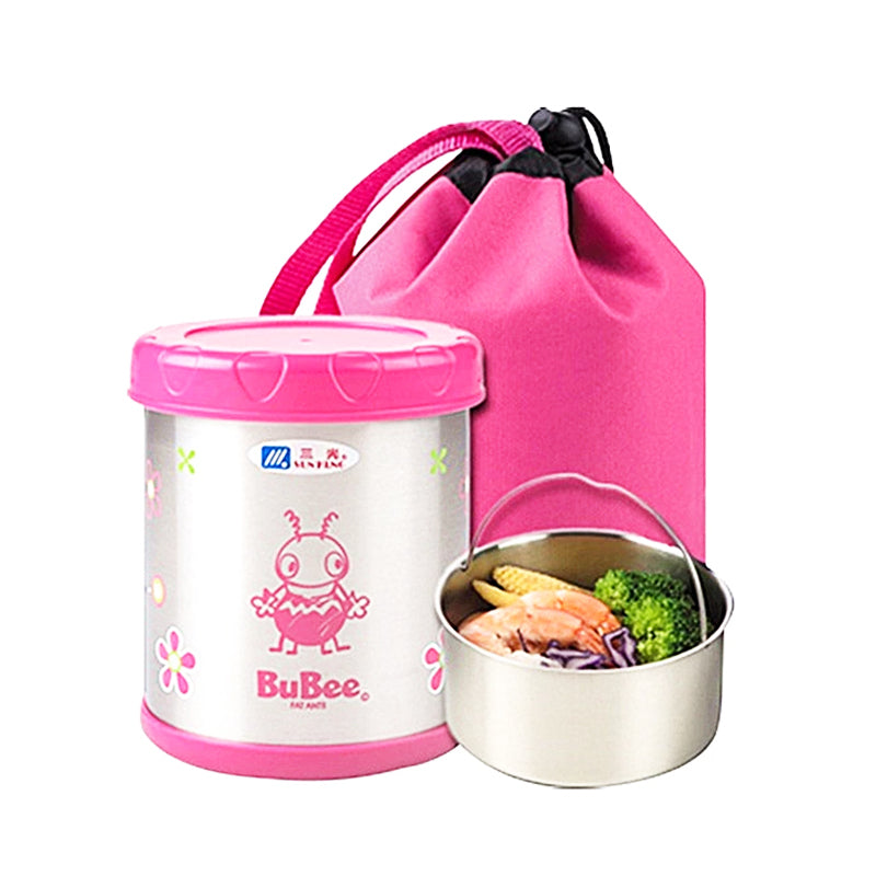 Sunkung steel insulated lunch box 0.7L-Pink