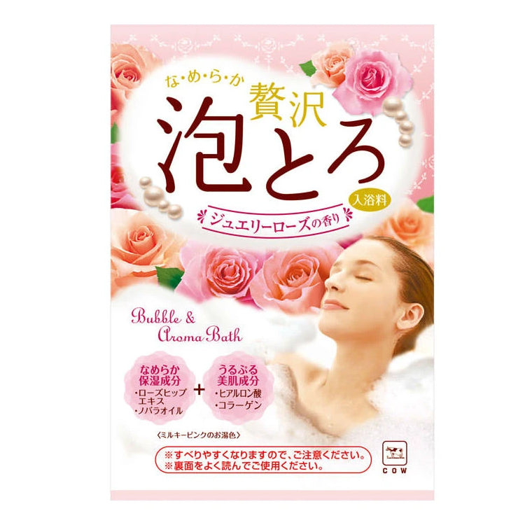 COW BRAND Bubble Aroma Bath-Jewelry Rose 30g