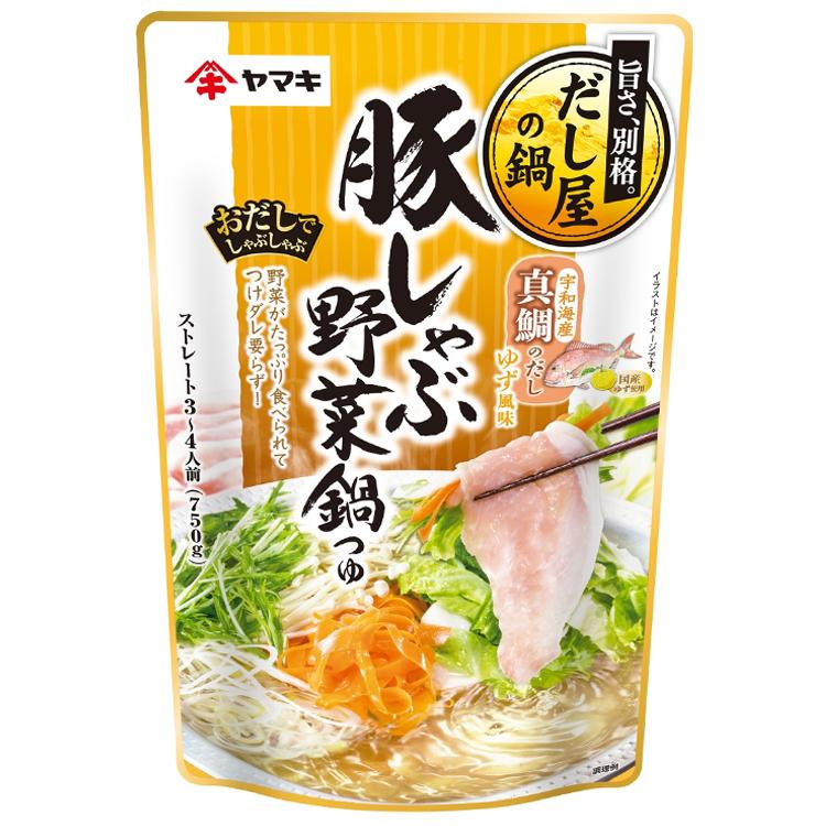 YAMAKI Japanese Pork Vegetable Hot pot Soup Base 750g