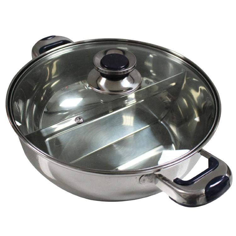 HCX Shabu Shabu Dual Sided Hot Pot With Divider 30cm