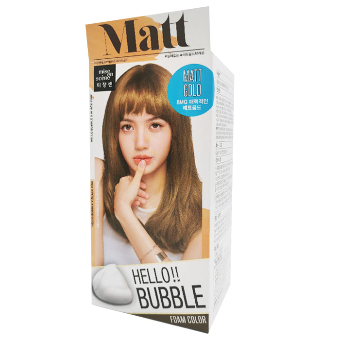 Mise En Scene Hello Bubble Hair Foam Color-Matt Gold 8MG