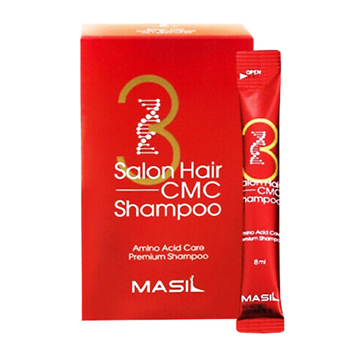 MASIL 3 Salon Hair CMC Shampoo Portable-for Damaged Hair 8ml x 20