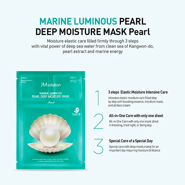 JM Solution Marine Luminous Pearl Deep Moisture Mask 10 Pack