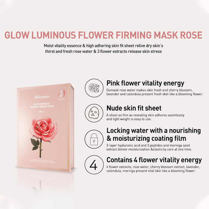 JM Solution Glow Luminous Flower Firming Mask 10Pcs
