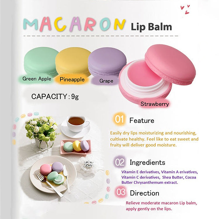 It's Skin Macaron Strawberry Lip Balm 9g